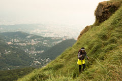 Trekking above Taipei Royalty Free Stock Photography