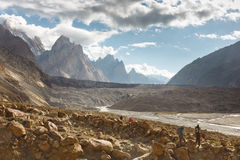Trekking Adventure in the Karakroum Mountains Royalty Free Stock Photography