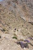 Trekking al canyon di Traxoulas, Lendas, Creta Fotografia Stock