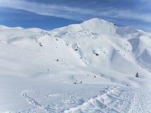 Trekking in the alps Stock Images