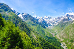 Trekking in the Alps of France Royalty Free Stock Photography
