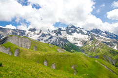 Trekking in the Alps of France Royalty Free Stock Images