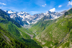 Trekking in the Alps of France Stock Image