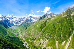 Trekking in the Alps of France Stock Photo