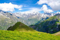 Trekking in the Alps of France Stock Photos