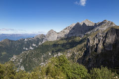 Trekking in the alps Royalty Free Stock Photography