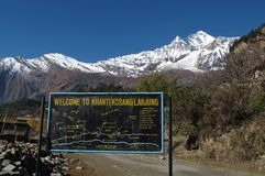 Trekking in the Annapurna Conservation Area Royalty Free Stock Photography