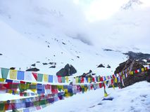 Trekking Annapurna Mountain at   pokhara nepal Stock Image