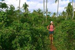 Trekking através da selva 2 Fotografia de Stock Royalty Free