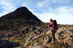 Trekking auf Pico Volcano lizenzfreies stockbild