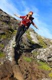 Trekking auf Pico Volcano stockfotos