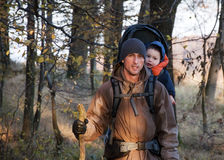 Trekking with a baby Stock Photography