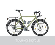 Trekking bicycle configuration for long traveling. Royalty Free Stock Images