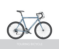 Trekking bicycle configuration. Vector. Royalty Free Stock Photography