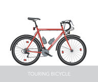 Trekking bicycle configuration. Vector. Royalty Free Stock Images