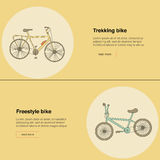Trekking bike, freestyle Stock Photos