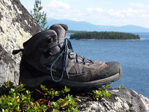 Trekking boot Stock Photography