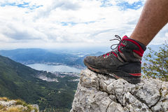 Trekking boot Royalty Free Stock Images