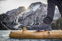Trekking boot Royalty Free Stock Photo
