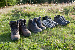 Trekking boots. Royalty Free Stock Photography