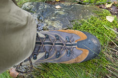 Trekking boots Stock Photo