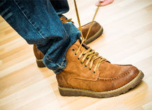 Trekking boots Stock Photography