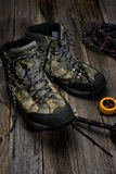 Trekking boots Royalty Free Stock Image