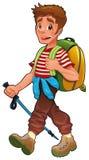 Trekking boy. Stock Photo
