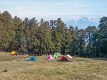 Trekking camp Stock Images