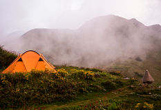 Trekking and camping Royalty Free Stock Images