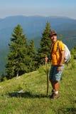 Trekking in Carpathian mountains Stock Photos