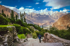 Trekking in the Central Karakorum National Park Royalty Free Stock Images