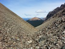 Trekking in Cerro Castillo Area. South Ameica travel, Patagonia, Chile, cerro Castillo hike, fantastic trekking through lakes, glaciers, mountain passes stock photo