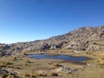 Trekking Cerro Champaqui dalla villa Alpina, rdoba del ³ di CÃ, Argentina fotografie stock libere da diritti