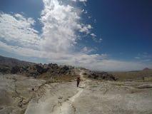 Trekking Cerro Champaqui dalla villa Alpina, rdoba del ³ di CÃ, Argentina immagine stock libera da diritti