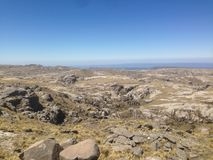 Trekking Cerro Champaqui dalla villa Alpina, rdoba del ³ di CÃ, Argentina fotografia stock