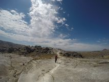 Trekking Cerro Champaqui od willi Alpina, CÃ ³ rdoba, Argentyna obraz royalty free