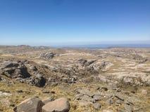 Trekking Cerro Champaqui od willi Alpina, CÃ ³ rdoba, Argentyna fotografia stock
