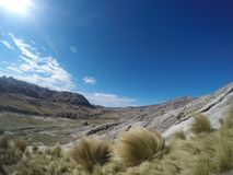 Trekking Cerro Champaqui od willi Alpina, CÃ ³ rdoba, Argentyna obrazy stock