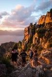 Trekking com família Imagens de Stock Royalty Free