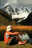 Trekking in Cordiliera Huayhuash Stock Photos