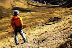 Trekking in Cordiliera Huayhuash Stock Images