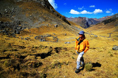 Trekking in Cordiliera Huayhuash Royalty Free Stock Photography