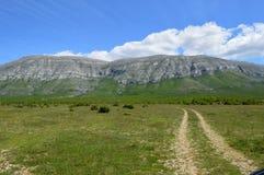 Trekking in Croatia. Climbing Croatia highest peak,Dinara stock photo