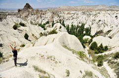 Trekking dans Cappadocia Images stock