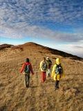 Trekking dans carpathien Photographie stock