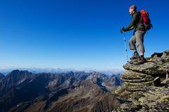 Trekking dans la nature Photographie stock libre de droits