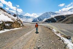 Trekking dans la région d'Annapurna Images libres de droits