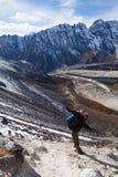 Trekking dans la région de Manaslu Photos stock