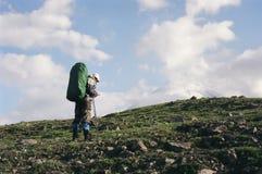 Trekking dans le Kamtchatka Photo libre de droits
